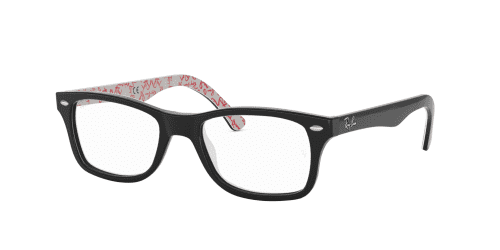 Ray-Ban RX5228 5014 Black on Textured White