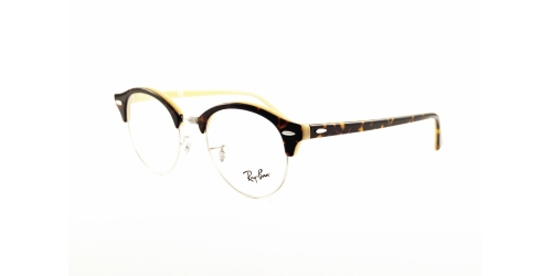 Ray-Ban RX 4246V 5239 Top Havana on Opal Peach