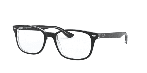 Ray-Ban RX5375 2034 Top Black on Transparent