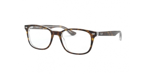Ray-Ban RX5375 5082 Top Havana on Transparent