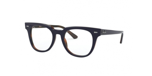 Ray-Ban Meteor RX5377 5910 Top Blue on Havana Red