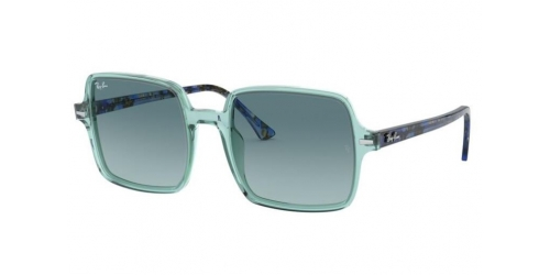 Ray-Ban SQUARE II RB1973 12853M Transparent Green