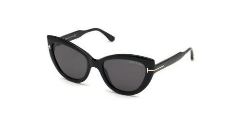 Tom Ford ANYA TF0762/S TF 0762/S 01A Shiny Black/Smoke