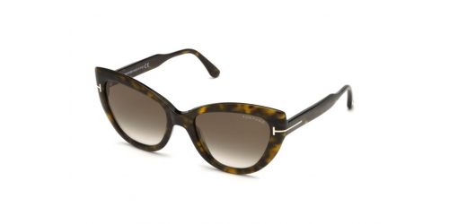 Tom Ford ANYA TF0762/S TF 0762/S 52K Dark Havana/Gradient Roviex