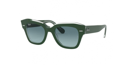 Ray-Ban Ray-Ban STATE STREET RB2186 12953M Green on Transparent