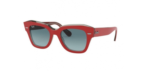 Ray-Ban STATE STREET RB2186 12963M Red on Transparent