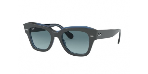 Ray-Ban STATE STREET RB2186 12983M Grey on Transparent Blue