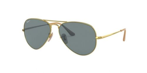 Ray-Ban AVIATOR METAL II RB3689 9064S2 Gold Polarized
