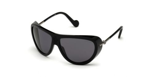 Moncler ML0128 01D Shiny Black Polarized