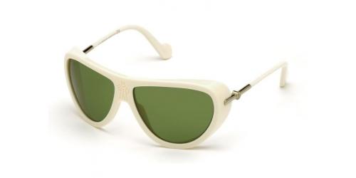 Moncler ML0128 25N Ivory/ Green Lenses