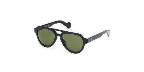 Moncler ML0094 01N Shiny Black / Green