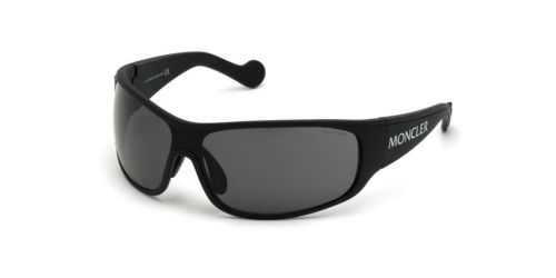 Moncler ML0129 02D Matte Black Polarized