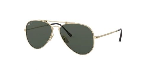 Ray-Ban JAPANESE TITANIUM RB8125M RB 8125M 9143 Gold Polarized