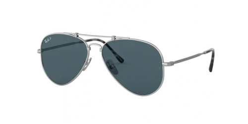 Ray-Ban JAPANESE TITANIUM RB8125M RB 8125M 9165 Silver Polarized