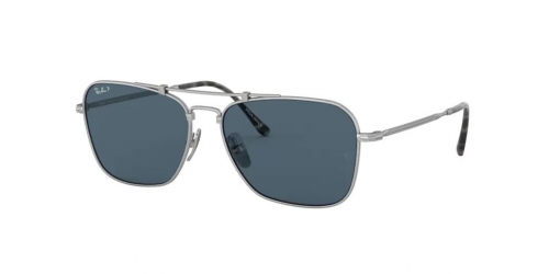 Ray-Ban JAPANESE TITANIUM RB8136M RB 8136M 9165 Silver Polarized