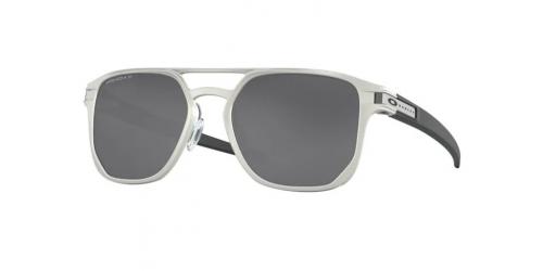 Oakley LATCH ALPHA OO4128 412801 Matte Silver Polarized