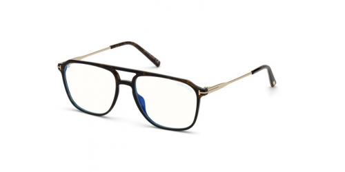 Tom Ford TF5665-B Blue Control TF 5665-B 052 Dark Havana