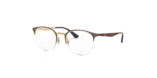 Ray-Ban RX6422 3001 Pink Gold on Havana