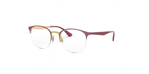 Ray-Ban RX6422 3007 Pink Gold on Matte Bordeau