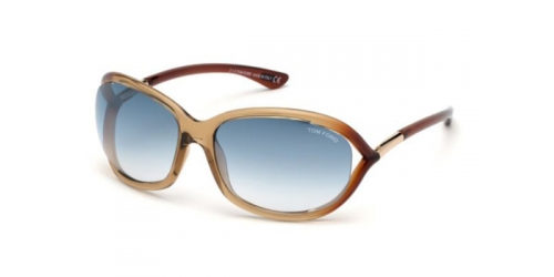 Tom Ford JENNIFER TF0008 45P Shiny Light Brown/Gradient Green