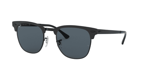 Ray-Ban CLUBMASTER METAL RB3716 186/R5 Shiny Black Top Matte
