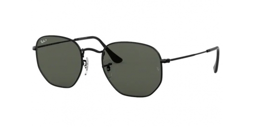 Ray-Ban RB3548N Hexagonal RB 3548N 002/58 Black Polarized