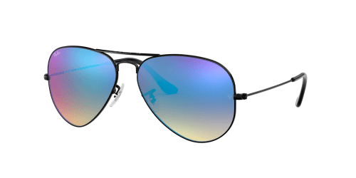 AVIATOR LARGE RB3025 AVIATOR LARGE RB 3025 002/4O Shiny Black