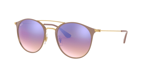 Ray-Ban RB3546 90118B Gold Top Beige