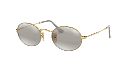 Ray-Ban Oval RB3547 9154AH Gold on Top Matte Grey