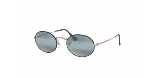 Ray-Ban Oval RB3547 9156AJ Copper on Top Matte Dark Blue