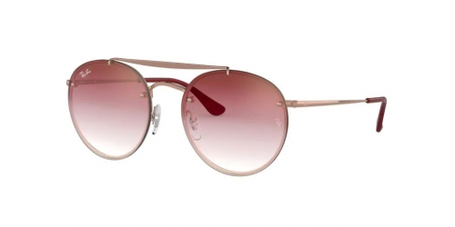 Ray-Ban BLAZE ROUND DOUBLEBRIDGE RB3614N RB 3614N 91410T Demi Gloss Copper
