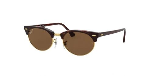 Ray-Ban CLUBMASTER OVAL RB3646 130457 Mock Tortoise Polarized