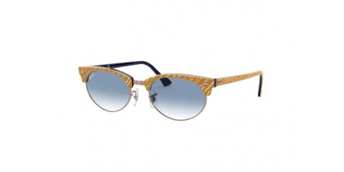Ray-Ban Ray-Ban Clubmaster Oval RB3946 13063F Wrinkled Beige on Blue