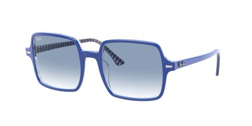 Ray-Ban Ray-Ban SQUARE II RB1973 13193F Blue on White and Blue