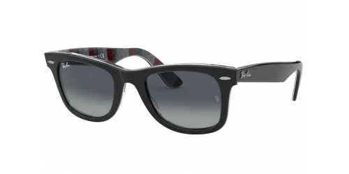Ray-Ban Ray-Ban Wayfarer RB2140 13183A Black on Chevron Grey