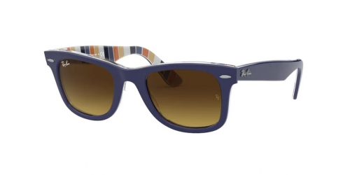 Wayfarer RB2140 Wayfarer RB 2140 132085 Blue and Striped Orange