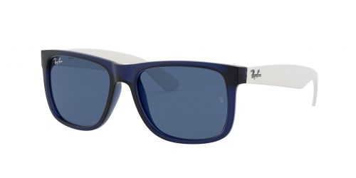 RB4165 Justin RB 4165 Justin 651180 Rubber Transparent Blue and White