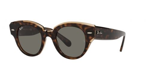 Ray-Ban Ray-Ban ROUNDABOUT RB2192 1292B1 Havana on Transparent Brown