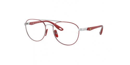 Ray-Ban Ray-Ban FERRARI RX6473M RX 6473M F067 Red on Silver