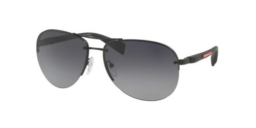 Prada Linea Rossa Prada PS56MS PS 56MS DG05W1 Black Rubber Polarized