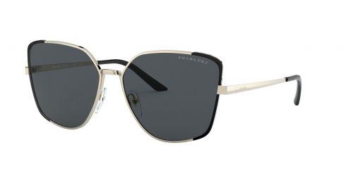 Prada Prada PR60XS PR 60XS QE35Z1 Pale Gold/Matte Black Polarised