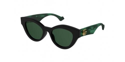Gucci Gucci GUCCI LOGO GG0957S GG 0957S 001 Black/Green