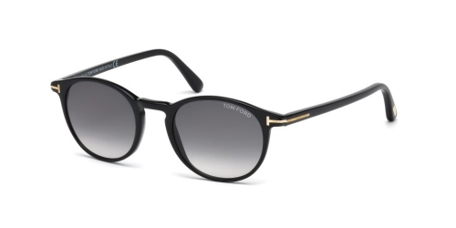 Tom Ford ANDREA-02 TF0539/S TF 0539/S 01B Shiny Black/Gradient Smoke