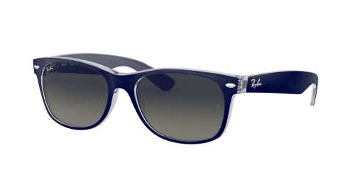 Ray-Ban Wayfarer RB2132 605371 Matte Blue on Trans