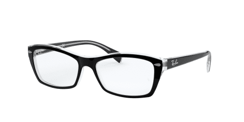 Ray-Ban Ray-Ban RX5255 2034 Top Black On Transparent