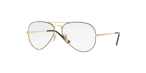 Ray-Ban RX6489 2946 Gold Top on Black