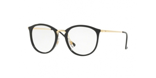 Ray-Ban RX7140 2000 Shiny Black/Gold