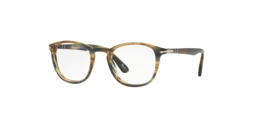 Persol PO3143V PO 3143V 1049 Striped Brown Grey
