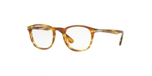 Persol PO3143V PO 3143V 1050 Striped Brown Yellow
