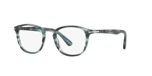 Persol PO3143V PO 3143V 1051 Striped Grey Blue